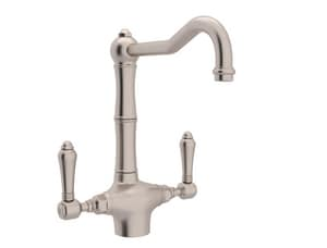 Rohl Country Kitchen 1.5 gpm 2-Handle 1-Hole Deck Mount Kitchen Sink Faucet Column Spout IPS Connection RA1679LM