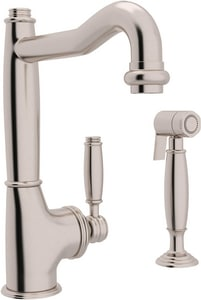 Rohl 1-Hole Kitchen Faucet with Single Lever Handle and Side Spray RMB79262