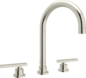 Rohl Modern™ 3-Hole Deckmount Widespread Lavatory Faucet with Double Lever Handle and 5-1/2 in. Spout Height RBA106L2