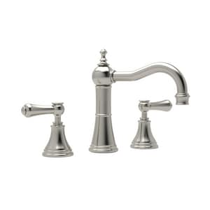 Rohl Perrin & Rowe® Bath 1.2 gpm 3-Hole Deckmount Widespread Lavatory Faucet with Double Metal and Porcelain Lever Handle RU3723LSP2