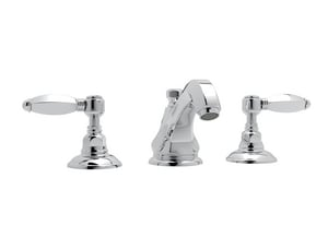 Rohl Hex 2-Hole Deckmount Widespread Lavatory Faucet with Double Porcelain Lever Handle RA1808LH2