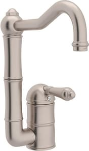 Rohl Country Kitchen 1-Hole Column Spout Bar Faucet with Single Lever Handle RA360865LM