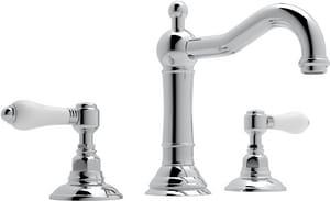 Rohl Acqui 3-Hole Deckmount Widespread Lavatory Faucet with Double Porcelain Lever Handle RA1409LP2