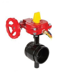 Smith-Cooper 300 psi Grooved Butterfly Valve with Switch S67BFVGET