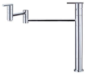Danze Parma™ 2.2 gpm Single-Handle Deck Mount Pot Filler Articulated Spout 3/8 in. Compression Connection DD206558