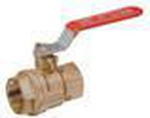 Red-White Valve 600 psi Threaded Brass Full Port Ball Valve R5044AB