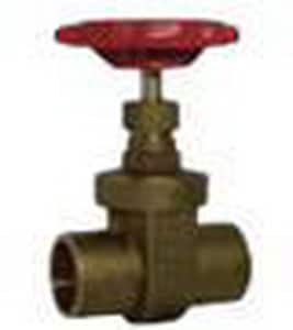 Red-White Valve 125 psi Sweat x Solder Brass Gate Valve R207AB