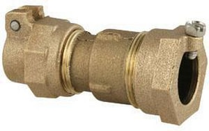 Ford Meter Box CTS Pack Joint x IPS Compression Brass Straight Coupling FC45NL