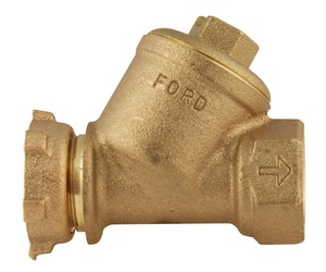 Ford Meter Box Meter Yoke x FIPT Brass Straight Single Check Valve FHS91NL