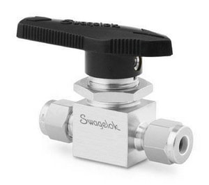 Swagelok 3000 psi Stainless Steel Tube Ball Valve SSS44S6