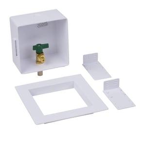 Oatey Ice Maker Box Quarter Turn Ball Valve in White O39155