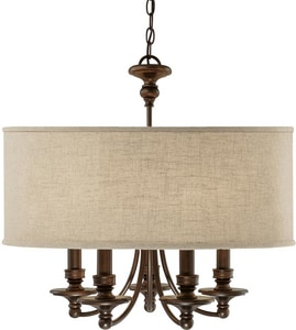 Capital Lighting Fixture Midtown 60 W 5-Light Candelabra Chandelier C3915BB454