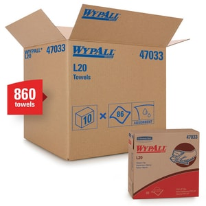 WypAll® L20 9-1/10 in. Pop-Up Wipes Box in Tan (Case of 10) K47033