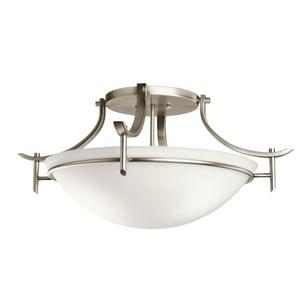 Kichler Lighting Olympia Collection 100W 3-Light Medium E-26 Incandescent Semi-Flush Ceiling Light KK3606