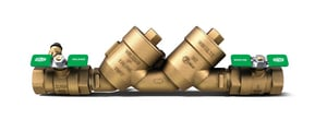 1 in. 300L Cast Bronze and Stainless Steel Threaded 175 psi Backflow Preventer