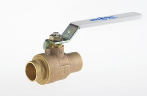 Milwaukee Valve 600# Bronze Sweat Standard Port Ball Valve MUPBA150