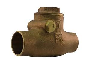 Milwaukee Valve Bronze 300# WOG Sweat Swing Check Valve MUP1509