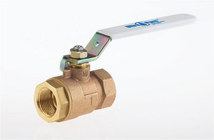 Milwaukee Valve 2-Piece Threaded Cast Bronze Full Port Ball Valve with Lever Handle MUPBA100S