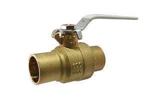 Milwaukee Valve 400# Brass Solder Full Port Blowout-Proof Stem Ball Valve MUPBA485B