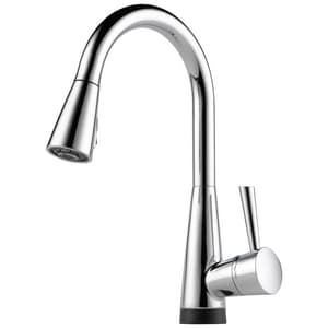 Brizo Venuto® 1.8 gpm Single-Handle Deck Mount Kitchen Sink Faucet 360° Swivel Pull Down Spout Compression Connection D64070LF