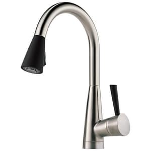 Brizo Venuto® 1-Hole Pull-Down Kitchen Faucet with Single Lever Handle and Magnetic Docking Spray Head D63070LFST
