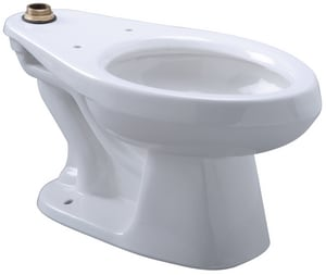 Zurn EcoVantage® Elongated Floor Mount Toilet Bowl in White ZZ5655BWL