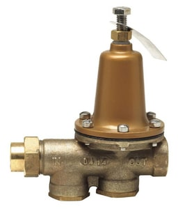 Watts NPT Threaded Female Union Inlet x NPT Female Outlet Water Pressure Reducing Valve WLF25AUBZ3