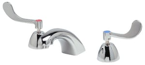 Zurn Industries AquaSpec® 0.5 gpm Double Wristblade Handle Widespread Lavatory Cast Spout Faucet in Polished Chrome ZZ831R4XL3M