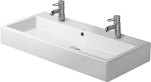 Duravit USA Vero™ 39-3/8 in. 2-Hole Ceramic Wall Mount Basin D04541000261