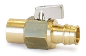 Uponor North America ProPEX® PEX x Copper Adapter Large Ball Valve ULF48075