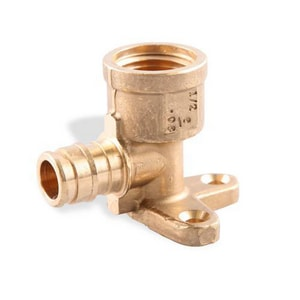Uponor North America PEX Brass Drop Ear 90 Degree Elbow ULF423