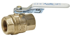 Apollo Conbraco EZ Solder Bronze™ Lead Free NPT Bronze 600# Threaded Two-Piece Full Port Ball Valve A77CLF1001