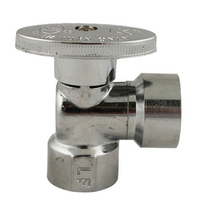 Keeney 1/2 in. FIP Quarter Turn Angle Valve in Polished Chrome KEE2052PCLF