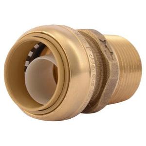 Sharkbite 1 in. Push x MNPT Brass Adapter SU140LF