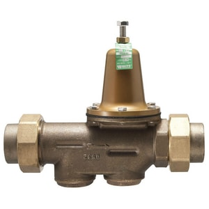 Watts 300 psi FNPT Union x Female Threaded Union Copper Alloy Water Pressure Regulator Valve WLF25AUBDUZ3