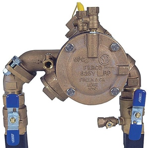 Febco Bronze Angle PATT RPZ Assembly FLF825YAQT