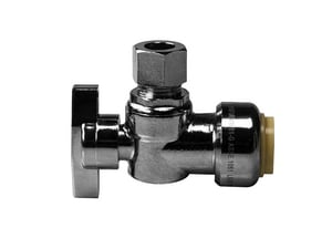 PDQ™ 1/2 in x 3/8 in Wheel Handle Angle Supply Stop Valve in Polished Chrome S132G2Q1C04