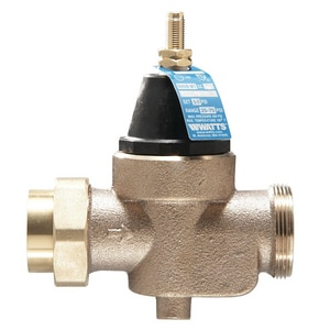 Watts NPT Union x Female Threaded Water Pressure Reducing Valve WLFN45BM1U
