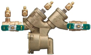 Watts Bronze Reduced Pressure Zone Assembly With 1/4 Turn WLF919QT