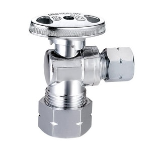 KwikStop® 5/8 x 3/8 in. OD Compression Angle Supply Stop Valve in Polished Chrome S132G2C1C04