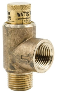 Watts 175 psi Brass Water Pressure Relief Valve WLF530C
