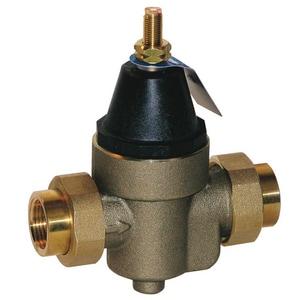 Watts Regulator 4-1/8 in. 400 psi Double Union x NPT Threaded Union Copper Alloy Water Pressure Reducing Valve WLFN45BM1DU