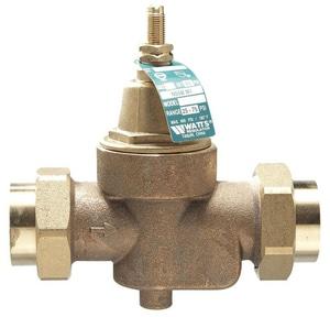 Watts 400 psi Double Union Brass Pressure Regulator Valve WLFN55BM1DU