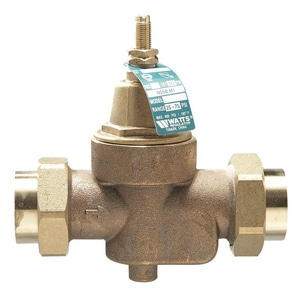 Watts 400 psi Double Union Brass Pressure Regulator Valve WLFN55BM1DU