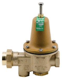 watts 3 4 in brass fnpt outlet water pressure reducing valve with thermal expansion bypass. Black Bedroom Furniture Sets. Home Design Ideas