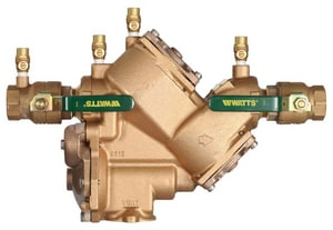 Watts Series LF909 Cast Copper Silicon Alloy MNPT 175 psi Backflow Preventer WLF909M1QT at Pollardwater