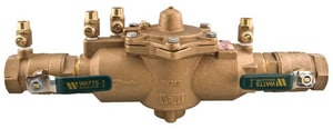 Watts Lead Free Bronze IPS Reduced Pressure Zone Backflow Preventer with Ball Valve WLF009M2QT