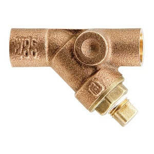 Watts 400 psi Bronze Sweat Wye Strainer WLFS777SI