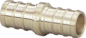 Viega North America 0.020 lbs. Brass Crimp PEX Coupling V46422
