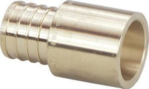 Viega North America Brass PEX Crimp x Copper Adapter V46654